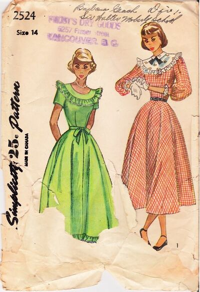 1940's Simplicity 2524 front