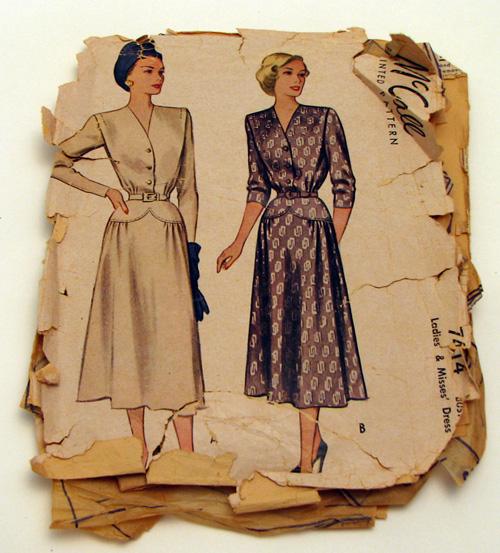 McCall 7414 circa 1948 dress a 500p wide