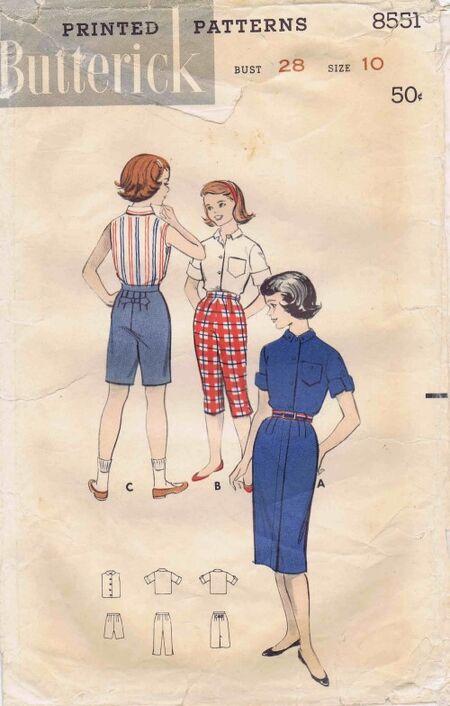 Butterick 1958 8551