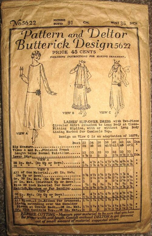 Butterick 5622 front