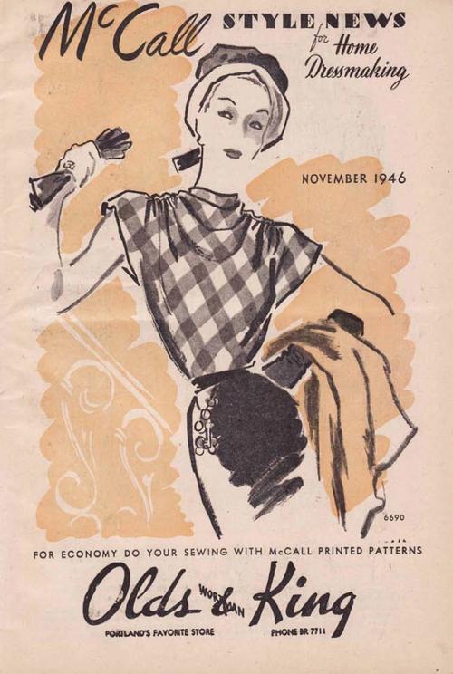 McCall Style News November 1946