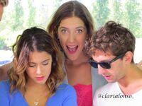 Clari, Tini and a guy