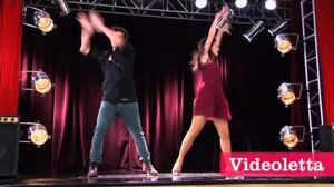 """Violetta 2 English - Diego and Fran dancing (""""More Tears"""") Ep"""