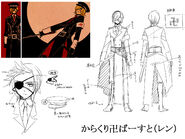 Concept art Karakuri Burst Len