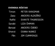 The Lion King Swedish Dub Credits Part 2