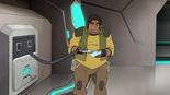 52. Hunk tries to pump food goo