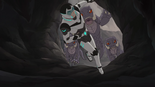 S2E01.159. Shiro dives into cave to escape