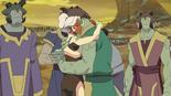 Allura and Shay hug