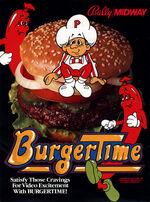 BurgerTime arcade flyer
