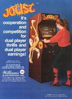 Joust arcade flyer
