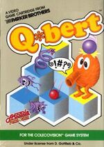 Qbert Colecovision cover