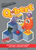 Atari 2600 Qbert box art