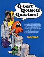 Qbert arcade flyer