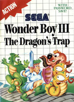 Wonder Boy III The Dragons Trap SMS box art