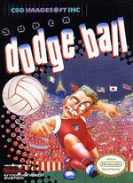 Super Dodge Ball NES cover