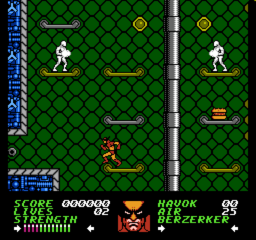 Wolverine NES screenshot