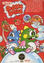 Bubble Bobble NES cover