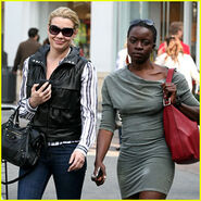 Laurie-holden-danai-gurira-gal-pals-at-the-grove