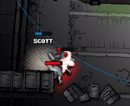 Scott Moon (Assault) under attack
