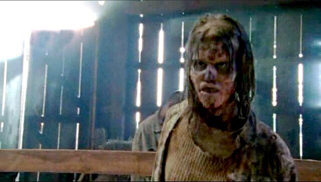 File:The walking dead - season 2 - barn zombie.jpg
