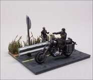 Daryl Dixon with Chopper (The Walking Dead TV) McFarlane Building Set