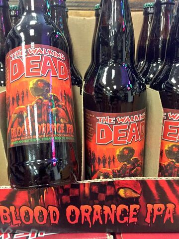 File:The Walking Dead- Blood Orange IPA blottles.jpg