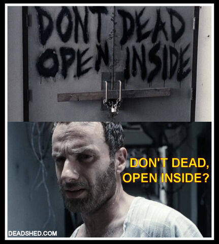 File:The Walking Dead Season 1 Meme Rick Hospital Sign DeadShed.jpg