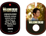 The Walking Dead - Dog Tag (Season 2) - Steven Yeun C10 (AUTHENTIC WORN COSTUME PIECE)