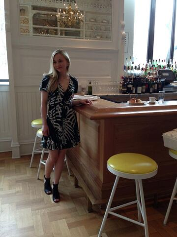 File:Emily in a cafe with a beautiful black floral dress.jpg