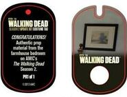 The Walking Dead - Dog Tag (Season 2) - Farmhouse Bedroom PR1 (AUTHENTIC WORN COSTUME PIECE)