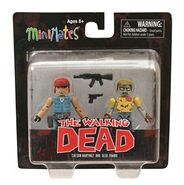 Walking Dead Minimates Series 5 Martinez and Geek Zombie 2-pk