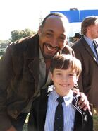 With-griffin-cleveland-on-the-set-of-the-pilot-for-hallelujah