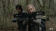 Beth tracking with Daryls crossbow she look so badass