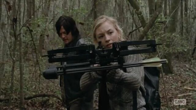 File:Beth tracking with Daryls crossbow she look so badass.JPG