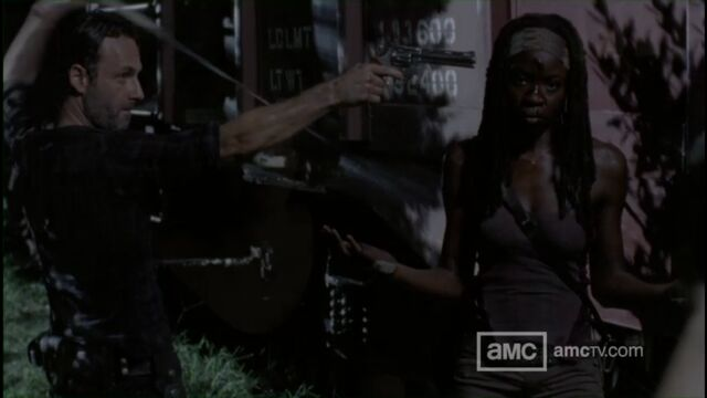 File:Rick Distrusts Michonne.jpg