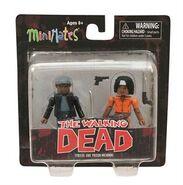 Walking Dead Minimates Series 5 Tyreese and Prison Michonne 2-pk