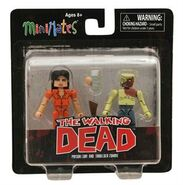 Walking Dead Minimates Series 4 Prison Lori & Shoulder Zombie 2-PK