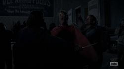 516 Red Poncho Man Death