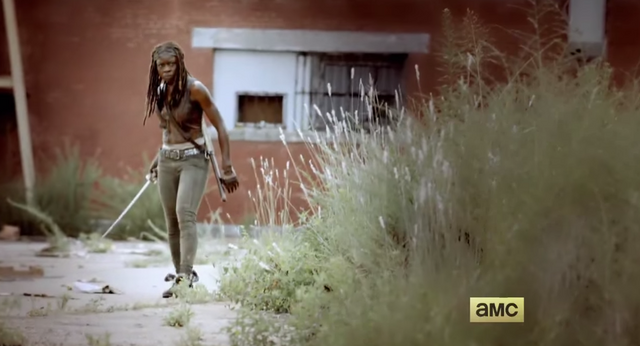 File:Michonne Season 5 Hunt or Be Hunted Teaser Promo.png