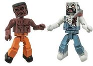 Walking Dead Minimates Series 3 Battle Damaged Tyreese & Farmer Zombie 2-pk