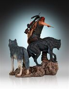 Daryl and the Wolves (Regular Release) Statue 3