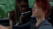 Michonne and Red Head