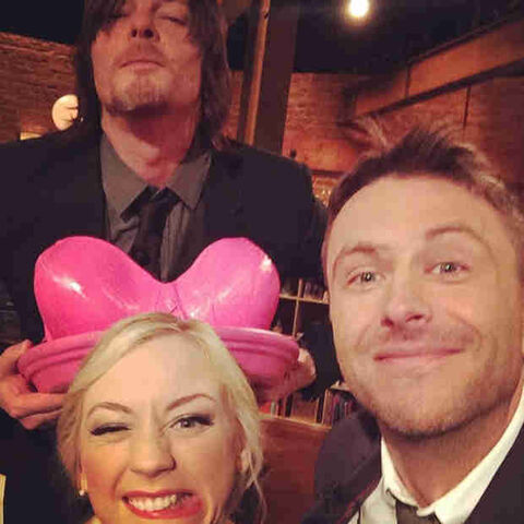 File:Norman Emily and Chris in talking dead selfie shes so cute.jpg