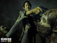 Season 5 Glenn killing walker