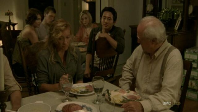 File:Beth sitting at the kids table listening to Glenn.JPG