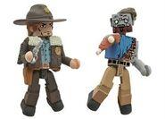 Walking Dead Minimates Series 1 Rick Grimes & One-Armed Zombie 2-pk