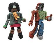 Walking Dead Minimates Series 2 Michonne & One-Eyed Zombie 2-pk