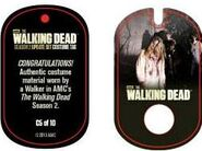 The Walking Dead - Dog Tag (Season 2) - Walker C5 (AUTHENTIC WORN COSTUME PIECE)