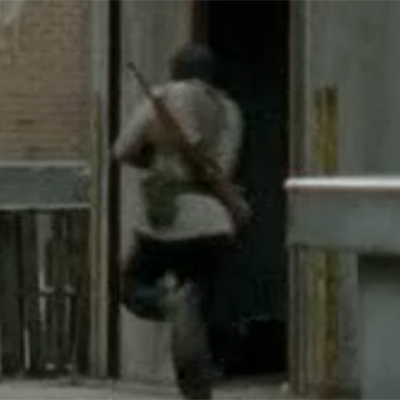 Tyreese running away