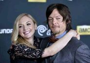 Emily with Norman at the red carpet so romantic